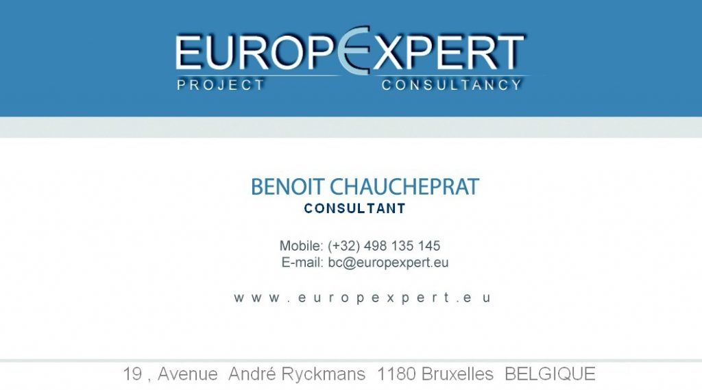 carte de visite Benoit Chaucheprat Europ'Expert